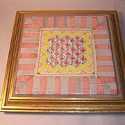 MacKenzie-Childs Rose Cottage Framed Trivet Plaque