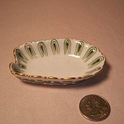 REDUCED Meissen Full Green Vine Scalloped Spoon Holder