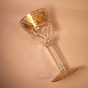 "Val St. Lambert  Pampre D'Or 6 3/8"" Red Wine Goblet"