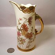 Circa 1889 Royal Worcester Blush Ivory Ewer