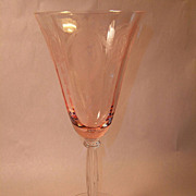 Rare Tiffin Classic Pink Water Goblet #15024