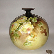 Ceramics Art Company, CAC Beleek Vase, Yellow Roses