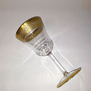 Superb St. Louis Crystal THISTLE Water Goblet