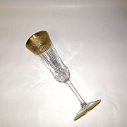 Superb St. Louis Crystal THISTLE Champagne Flute