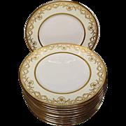 Royal Doulton Gold Encrusted Dinner Plates, Stunning!