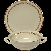 Lenox Golden Wreath Cream Soup & Saucer set