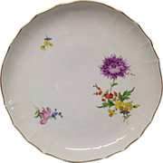 REDUCED Vintage Meissen Floral Round Platter, #8401 Flowers