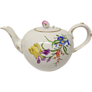 REDUCED Vintage Meissen Floral Tea Pot, #8401  Flowers