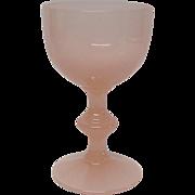 Portieux Vallerysthal (P V ) Pink Opaline Wine Goblet