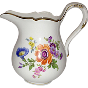 REDUCED Vintage Meissen Floral Creamer, #4606 Flowers