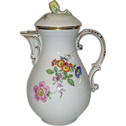 REDUCED Vintage Meissen Coffee Pot, Flowers, First Quality