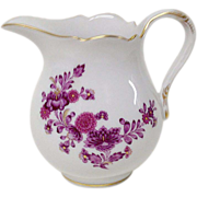 REDUCED Vintage Meissen Purple Floral Miniature Creamer
