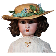 SOLD Jullien, Antique French doll, CA 1895, Walking body with pull string-28 inch