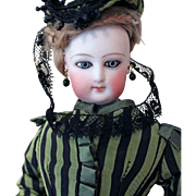 """SOLD Francois Gaultier Lady Doll - Size """"0""""- excellent body with stamped label Hamea"""