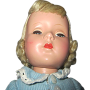 "SALE Early Amercian Character Sweet sue blonde doll beauty 14"" tall 1950's"