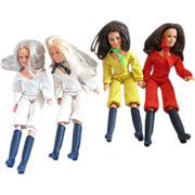 SALE Charlie's Angels vintage dolls Grouping of 4 inlcuding Farrah Habsro