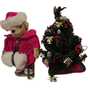 Muffy Vanderbear and her Christmas tree teddy bear