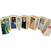 REDUCED Set of 7 GWTW Gone with the Wind portrait dolls World Doll