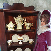 SALE Miniature Corner Cabinet