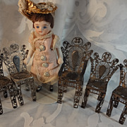 Doll House Sterling Silver Parlor Set