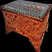 SALE Miniature Dore Bronze Vitrine