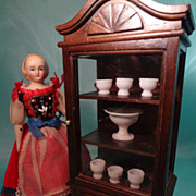 Doll House Display Cabinet; Music Box