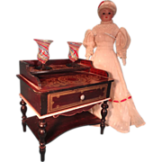 REDUCED Doll House Biedermeier Dresssing Table with Boule