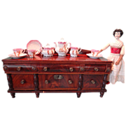 SALE Miniature English Sideboard  Flame Mahogany Quarter Scale Apprentice LAYAWAY AVAILABLE