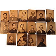 Sixteen TinTypes for Frames and Albums