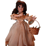 SALE Bisque Head Musical Automaton Girl Smelling Flowers