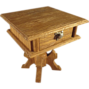 Schneegas Golden Oak Doll House Sewing Table with Provenance