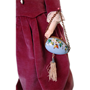Fabulous Hand Painted Easter Egg Doll Purse for French Fashion