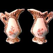 Pair German Porcelain Urns