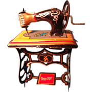 German Tin Doll House Sewing Machine