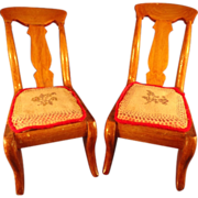 Pair of Slip Chairs with seat cushions