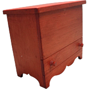 Miniature Blanket Chest with Drawer for French Fashion