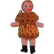 Carl Horn Doll Miniature in Crocheted Dress