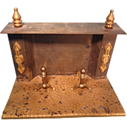 Brass and Tin Fireplace for Doll House or Display