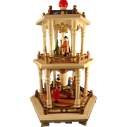German Erskebirge Three Tiered Christmas Creche Display