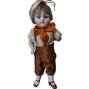 All Bisque German Glass Eyed Miniature Doll