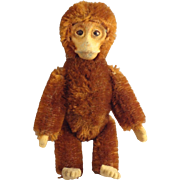 Brown Schucco Monkey with Swivel Head