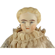 Bisque Blonde Hair Parian in Petite Doll House Size