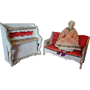 SALE PENDING French Doll House Settee and Piano