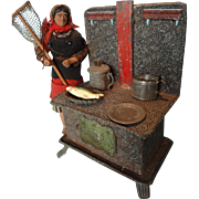 German Embossed Tinplate Stove for Doll House