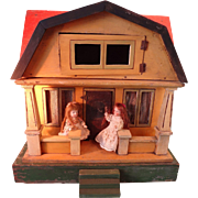 Gottschalk Red Roof Doll House with Front Porch