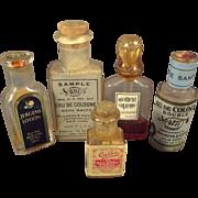 SALE Set of Five Miniature Bottles of Cologne for Doll's Vanity or Shop