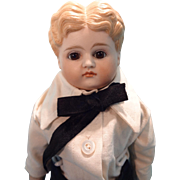 SALE Wonderful German Kestner Boy with Glass Eyes Closed Mouth