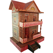 SALE Bliss Doll House with Two Rooms and Front Porch