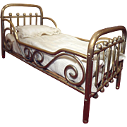 Brass Marklin Doll House Bed