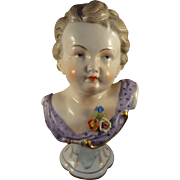 Dresden Porcelain Bust of Child